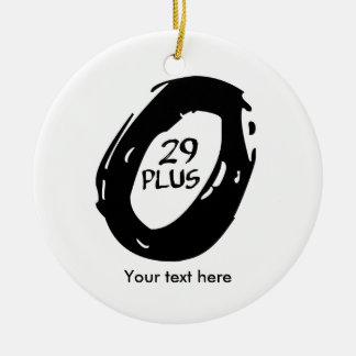 29 plus mountain bike ceramic ornament