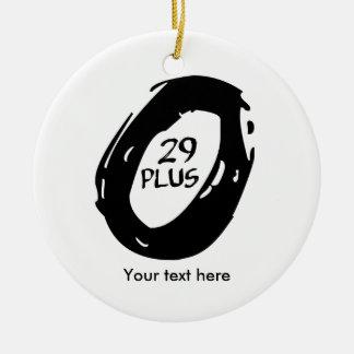 29 plus mountain bike round ceramic ornament