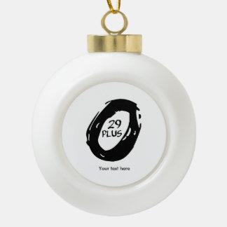29er Plus bike Ceramic Ball Christmas Ornament