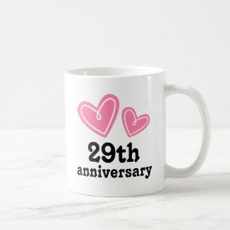 29th Anniversary Gift Hearts Coffee Mug