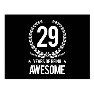 29th Birthday (29 Years Of Being Awesome) Postcard