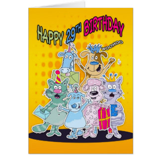 29th Birthday Card - Moonies Doodlematoons