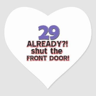29th birthday designs heart sticker