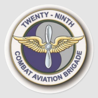 29TH Combat Aviation Brigade Classic Round Sticker