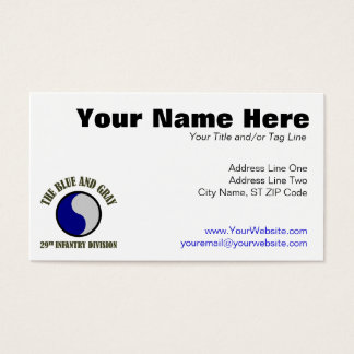 29th Infantry Division Business Card