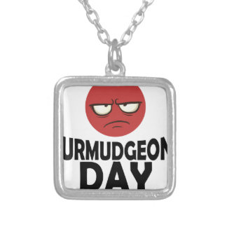 29th January - Curmudgeons Day Silver Plated Necklace