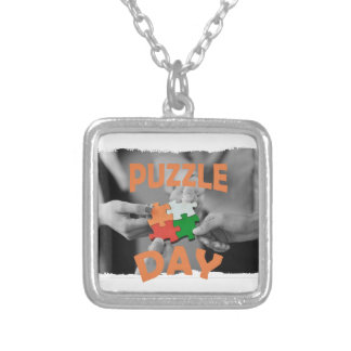 29th January - Puzzle Day - Appreciation Day Silver Plated Necklace