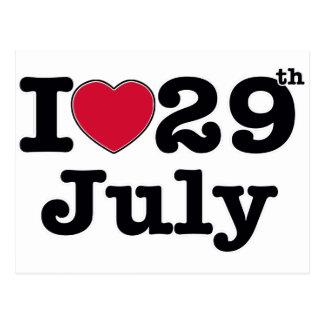 29th july my day of birthday postcard