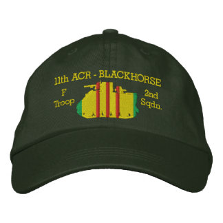 2 11th Cavalry M113 ACAV Hat Embroidered Hat
