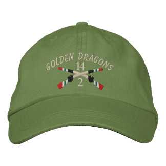2-14th Infantry Iraq Crossed Rifles Embroidered Baseball Caps