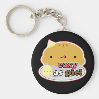 "2 1/4"" Easy As Pie! (Pink) Key Chain"