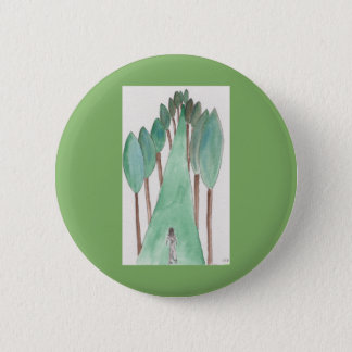 "2 1/4"" standard round button with abstract drawing"