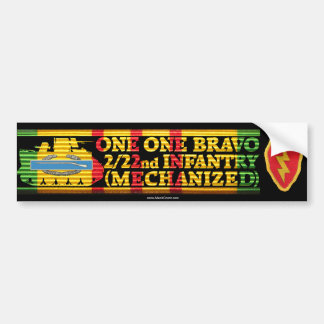 2/22nd Inf. 25th Div. One One Bravo Bumper Sticker