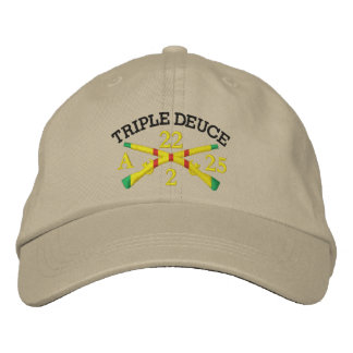 2/22nd Inf. 25th I.D. Crossed Rifles Embroider Hat Baseball Cap