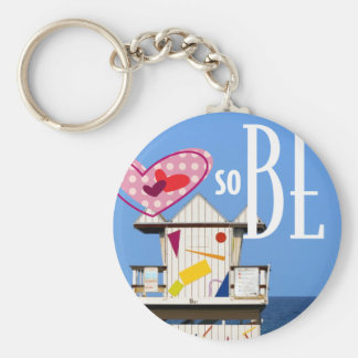 "2.25"" Key ring Love South Beach Miami 6 ST"