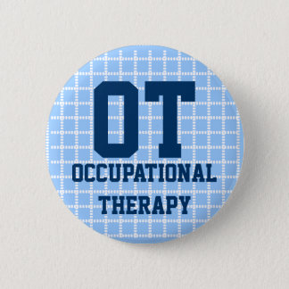 "2.25"" occupational therapy button - blue & white"