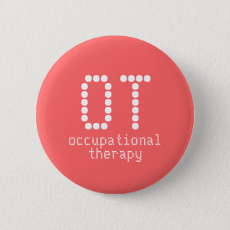 """2.25"""" occupational therapy button - melon"""