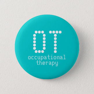 "2.25"" occupational therapy button - teal"