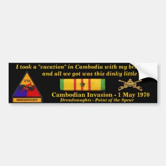 2/34th Armor Cambodian Vacation Bumper Sticker