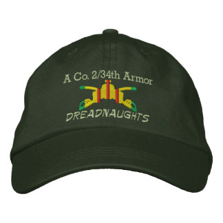 2 34th Armor VSM Armor Branch Embroidered Hat