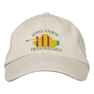 2 34th Armor VSM M48 Embroidered Hat