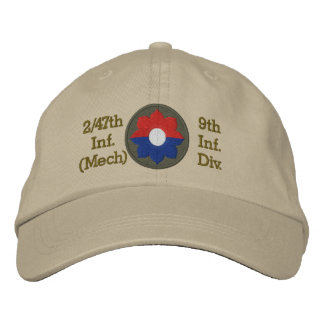 2/47th Inf. 9th Inf. Div. Patch Embroidered Hat