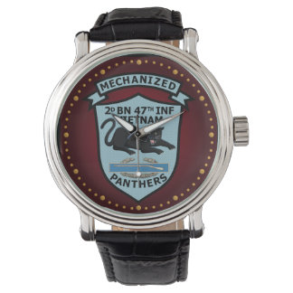 2/47th Inf. Mechanized Panther Patch Watch