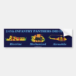 "2/47th Inf. ""Panthers Did It All"" Sticker Bumper Sticker"