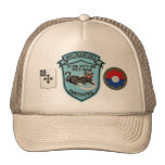 2/47th Infantry Vintage Panthers Patch Mesh-Back H Trucker Hat