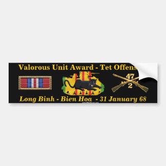 2/47th Valorous Unit - Tet Offensive 1968 Bumper Sticker