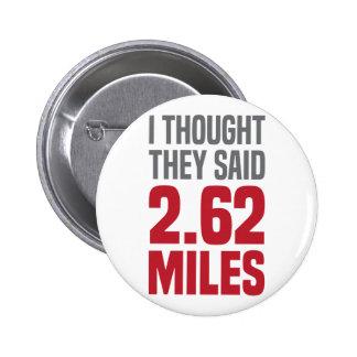 2.62 Miles 2 Inch Round Button