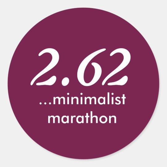 2.62 Minimalist Marathon Sticker