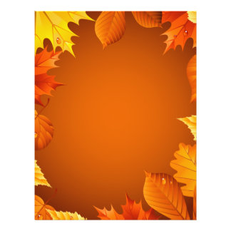 2.ai Orange Autumn Leaves Flyers
