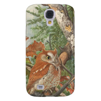2 angry vintage owls in a tree
