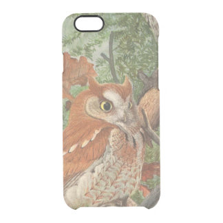 2 angry vintage owls in a tree clear iPhone 6/6S case