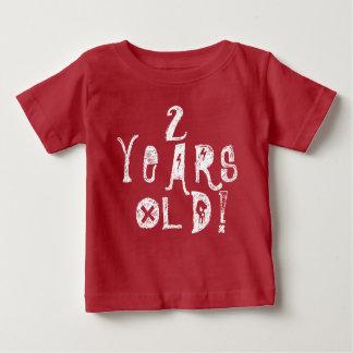 2 années d'anniversaire mignon de bébé de roche t-shirt pour bébé
