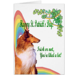 2. Awesome Collie Irish or not you're liked a lot! Card