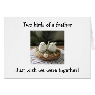 2 BIRDS OF A FEATHER TWIN-WISH WE WERE TOGETHER CARD