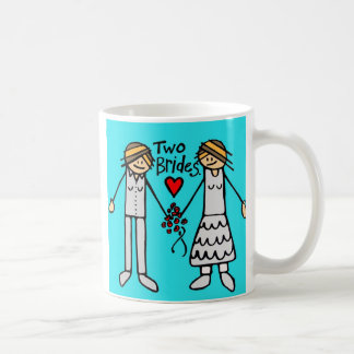 2 brides-color coffee mug