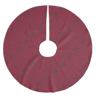 2 BRUSHED POLYESTER TREE SKIRT