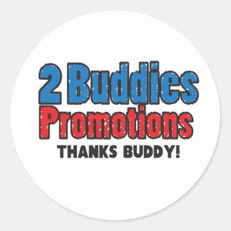 "2 Buddies ""Thanks Buddy!"" Sticker"