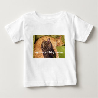 2 Cats Cuddling and Sleeping Baby T-Shirt