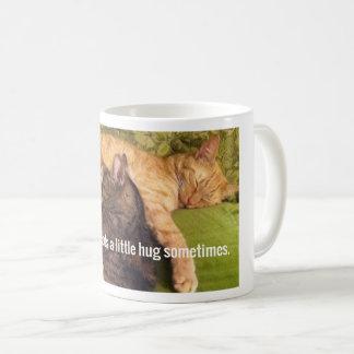 2 Cats Cuddling and Sleeping Coffee Mug