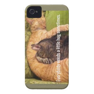 2 Cats Cuddling and Sleeping iPhone 4 Case-Mate Case
