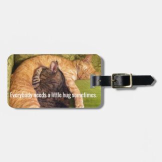 2 Cats Cuddling and Sleeping Luggage Tag