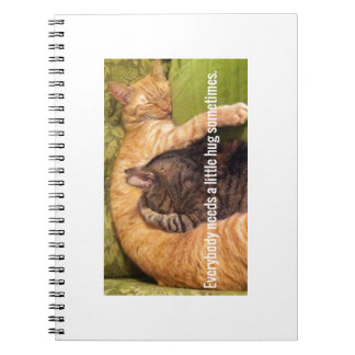2 Cats Cuddling and Sleeping Notebooks
