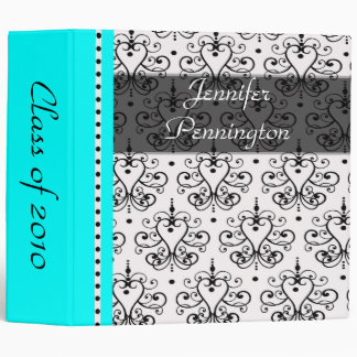 "2"" Chandelier damask graduation memories binder"