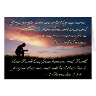 2 Chronicles 7:14 Bible Verse If My People Pray Card
