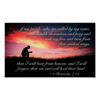 2 Chronicles 7:14 Bible Verse If My People Pray Poster