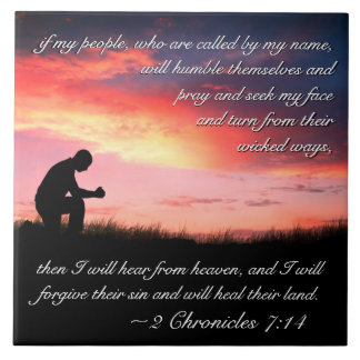 2 Chronicles 7:14 Bible Verse If My People Pray Tile